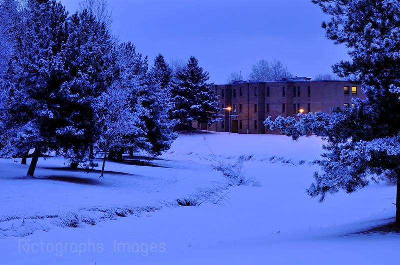 Winter Beauty at Confederation College, Thunder Bay, Ontario, Canada
