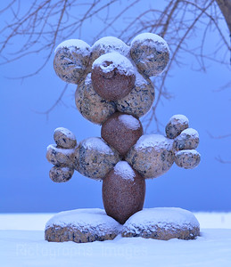 Balloon Stone Sculpture