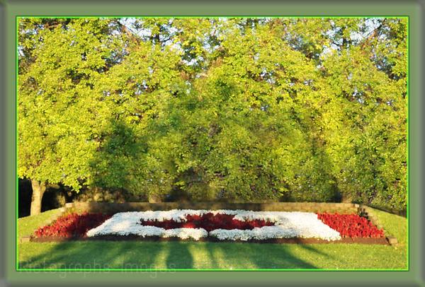 Friendship Gardens, Flower Flag, Thunder Bay Ontario, Canada