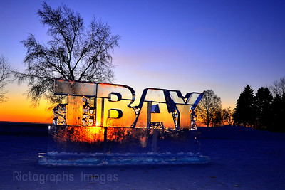 Ice Sculpture, Word Art, Sunrise,