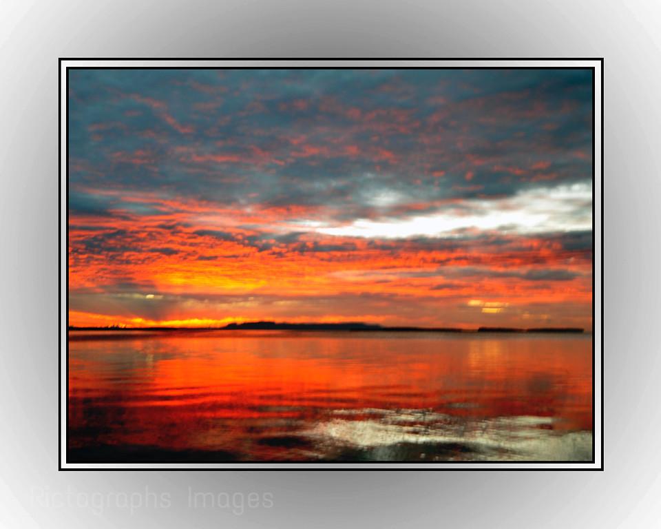 Nanabijou, Sun Rise; Lake Superior
