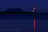 Thunder Bay, Ontario, Canada, The Harbour, Pie Island &  A Lighthouse Bouy, Used for Navigation