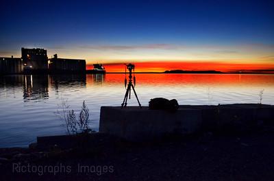 The Harbor, At Sun Rise, Thunder Bay, Ontario, Canada