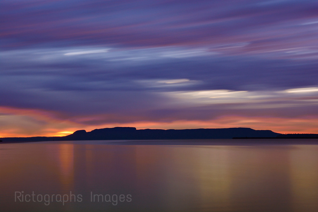 Nanabijou, The Sleeping Giant, Lake Superior, Thunder Bay, Ontaro, Canada Fall 2015, Sunrise; Long Exposure