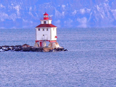 Breakwater Lighthouse, Thunder Bay Harbour, Ontario, Canada