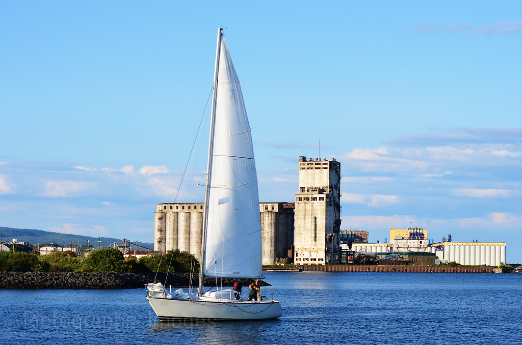 Sailing In Thunder Bay, Ontario, Canada