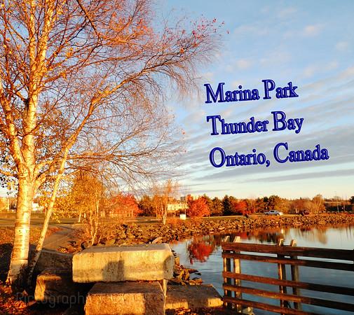 Marina Park, Thunder Bay Ontario, Canada, Fall Morning