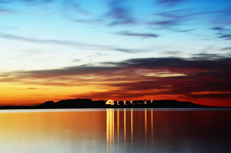 Freighter Giant Sunrise