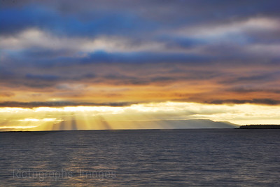 Sun Rays Beaming Down Over The Sleeping Giant, October 2016, Rictographs Images
