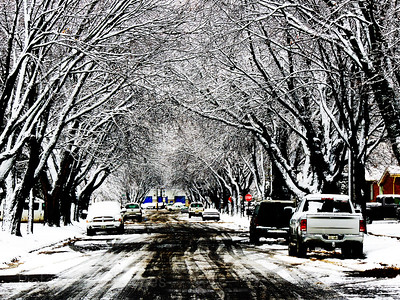 Winter City Street, Rictographs Images