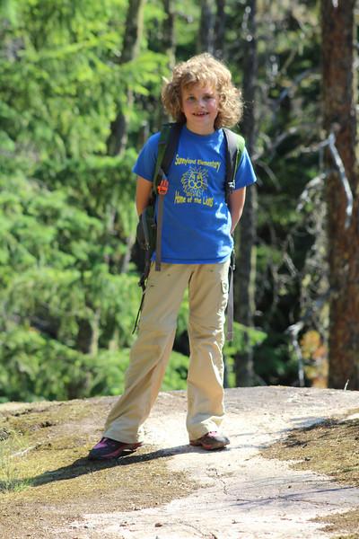 Mommy's little hiker!
