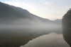 Morning fog on the lake.