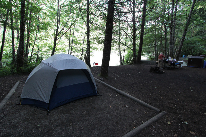 Our lakeside campsite.