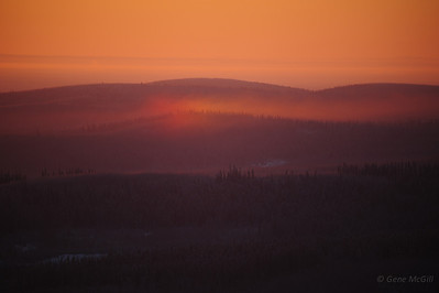 A partial sun dog in the hills near Nenana, Alaska