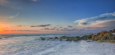 Clam Pass Rocky Sunset