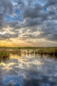 Marsh Trail Sunset Vertical