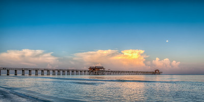 Supermoon Morning Pier Pano