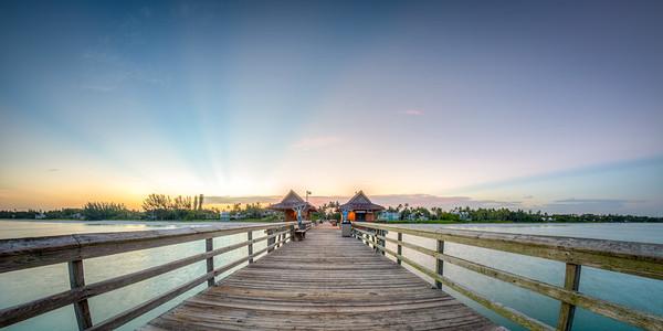 Old pier East sunrise 2015