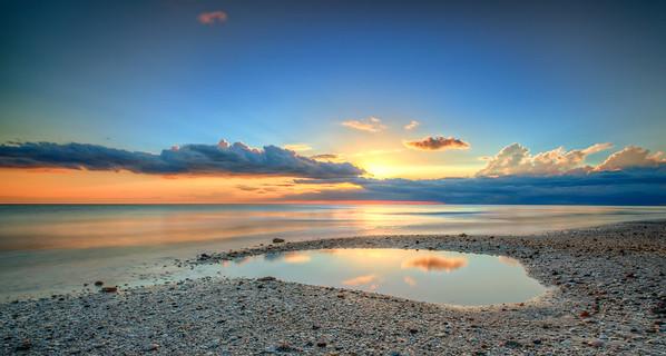 Reflection Sunset over Gulf