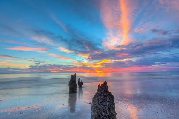 Vertical Red Sunset, Port Royal