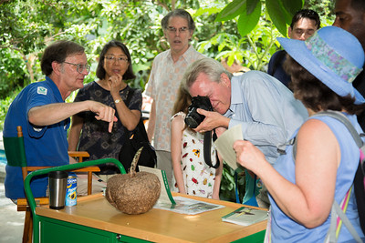 Botanic Garden Educator Todd Brethauer (far left) was on hand to answer visitor questions