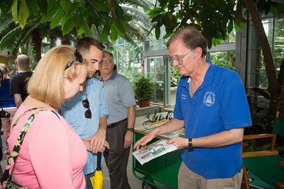 Botanic Garden Educator Todd Brethauer (right) was on hand to answer visitor questions