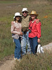 Friends, Eileen and Gunther with Maggie on a nature trail around the estuary north of Del Mar.