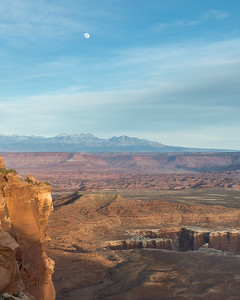 Grand View Point again with the supermoon rising over the La Sal Mountains.