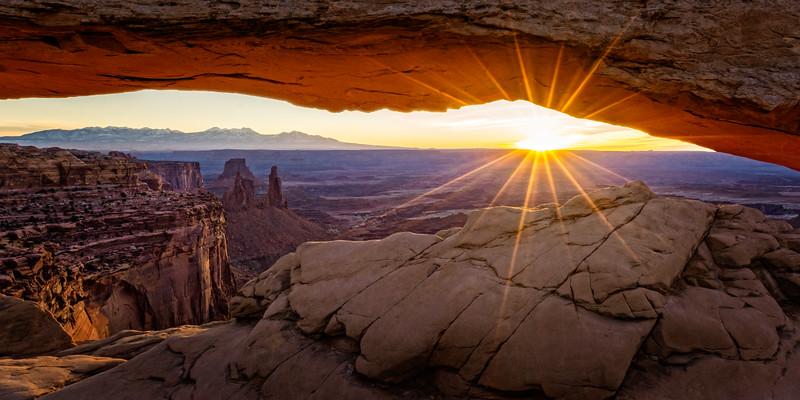 Sunrise at Mesa Arch, Canyonlands NP.