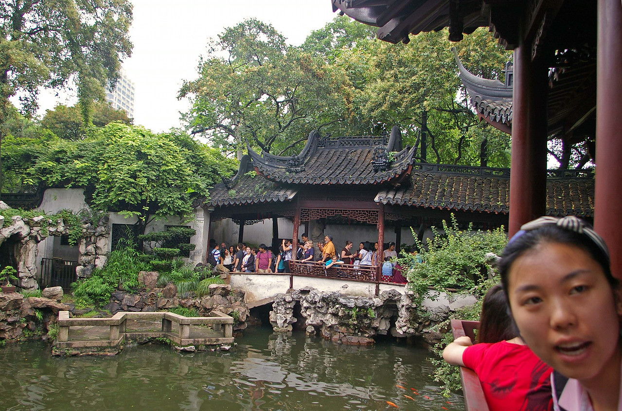 "This is part of the scenic  Yu Gardens.  An old garden and marketplace in  the ""Old City"" part of Shanghai"