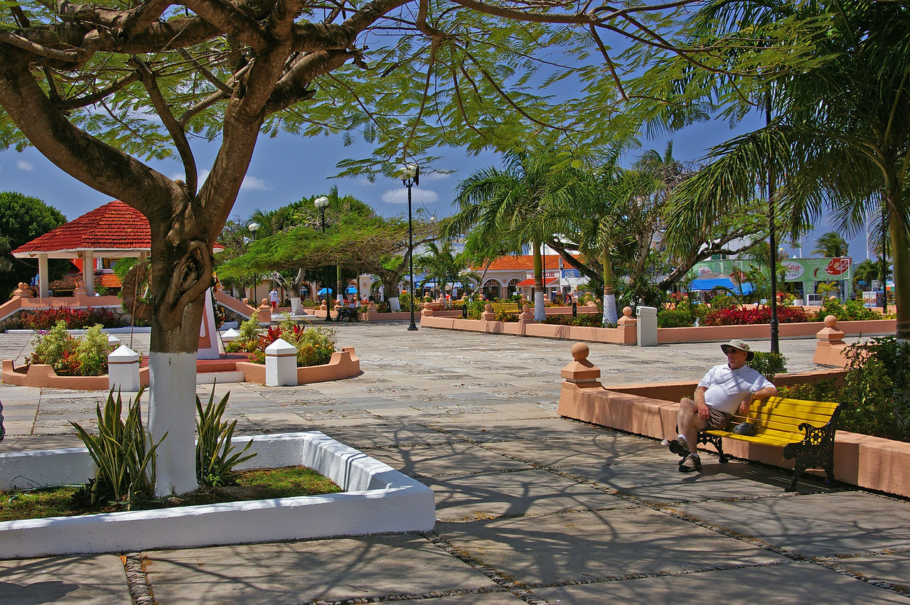 Central plaza in San Miguel