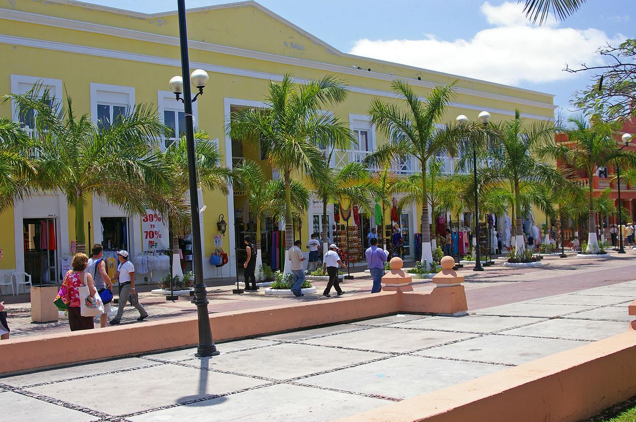 Shops along the Plaza