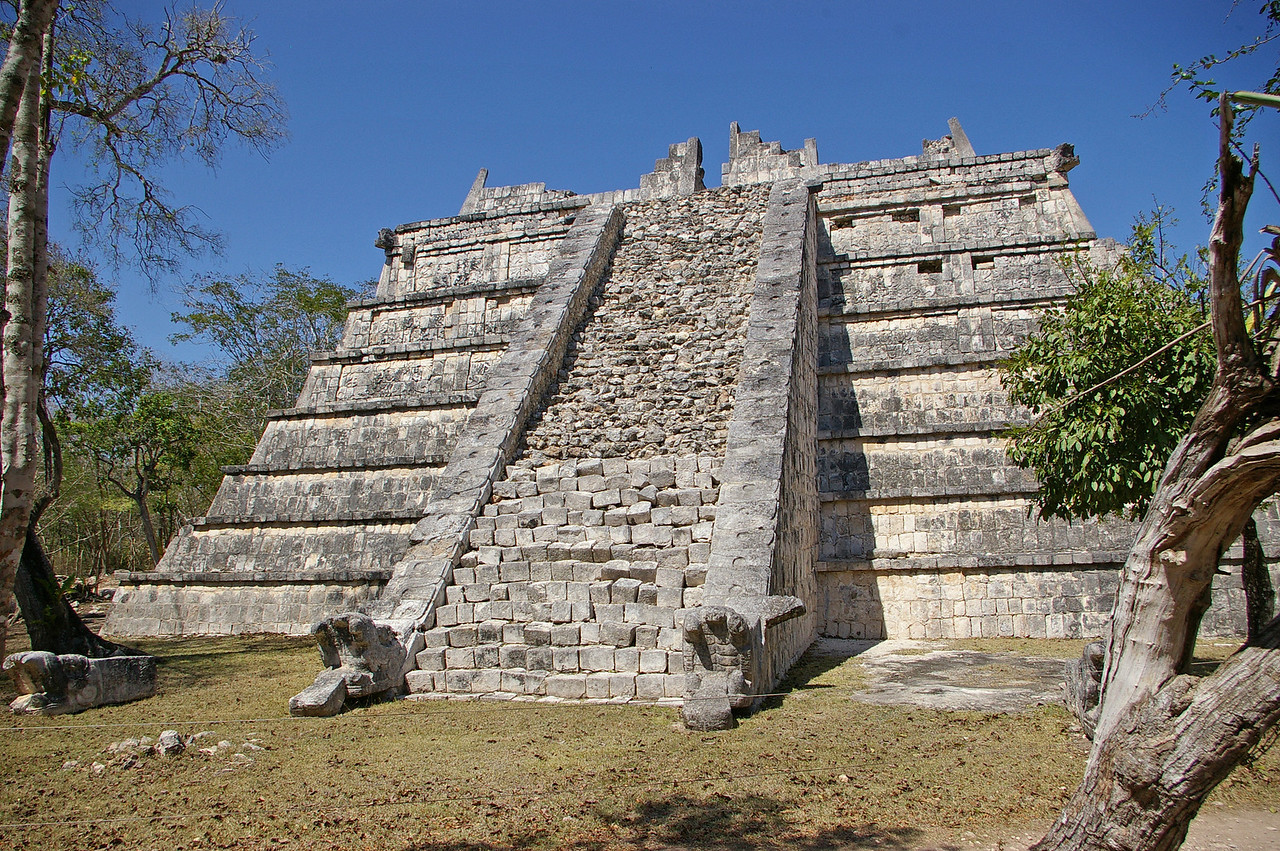 At Chichen Itza, an ancient Myan city on the Yucatan.  This is a smaller temple in the large area of ruins.