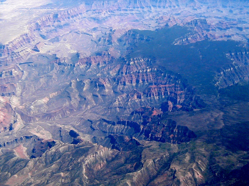 The Grand Canyon, from 35,000 ft