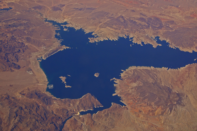 The Hoover Dam and Lake Meade