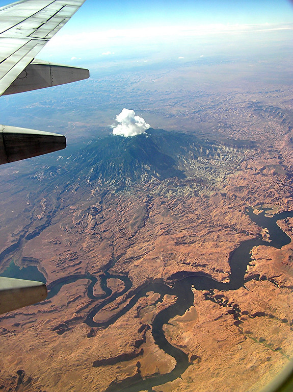 Lake Powell.  That only looks like a volcano.