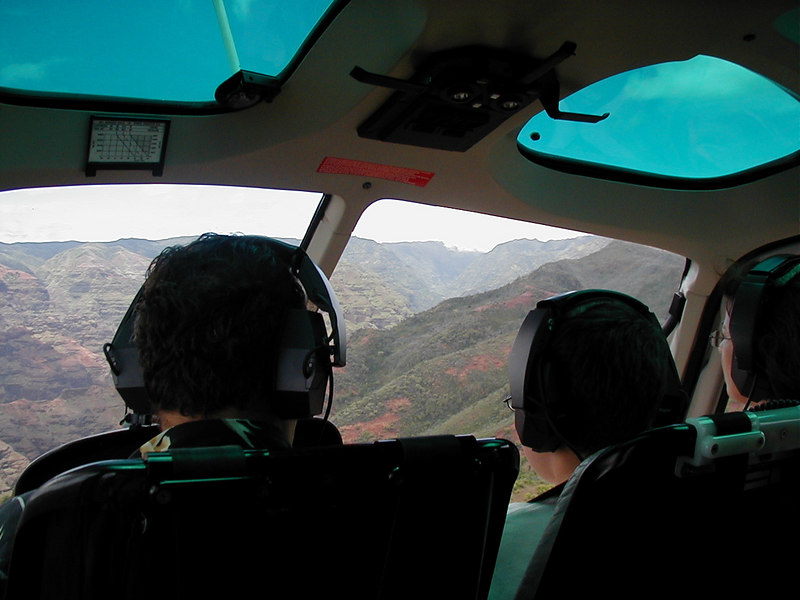 Helicopter ride over Kawai