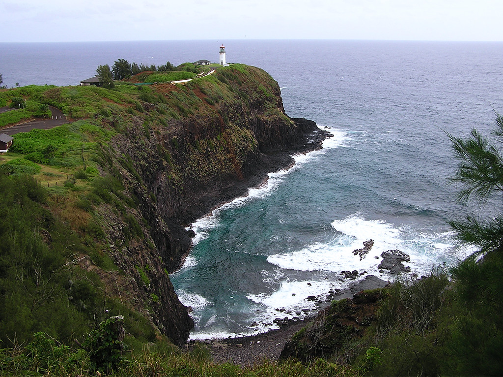 Lighthouse on Northeast shore of Kawai