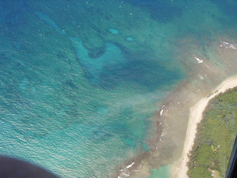 Kee'ee Beach from above.