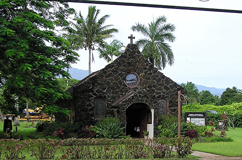 Small chapel made out of coral.
