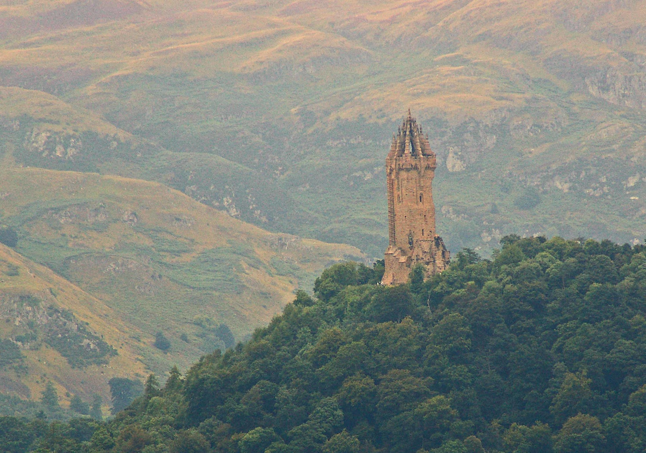 "William Wallace Monument.  In honor of William Wallace, better known to movie fans as ""Braveheart"""