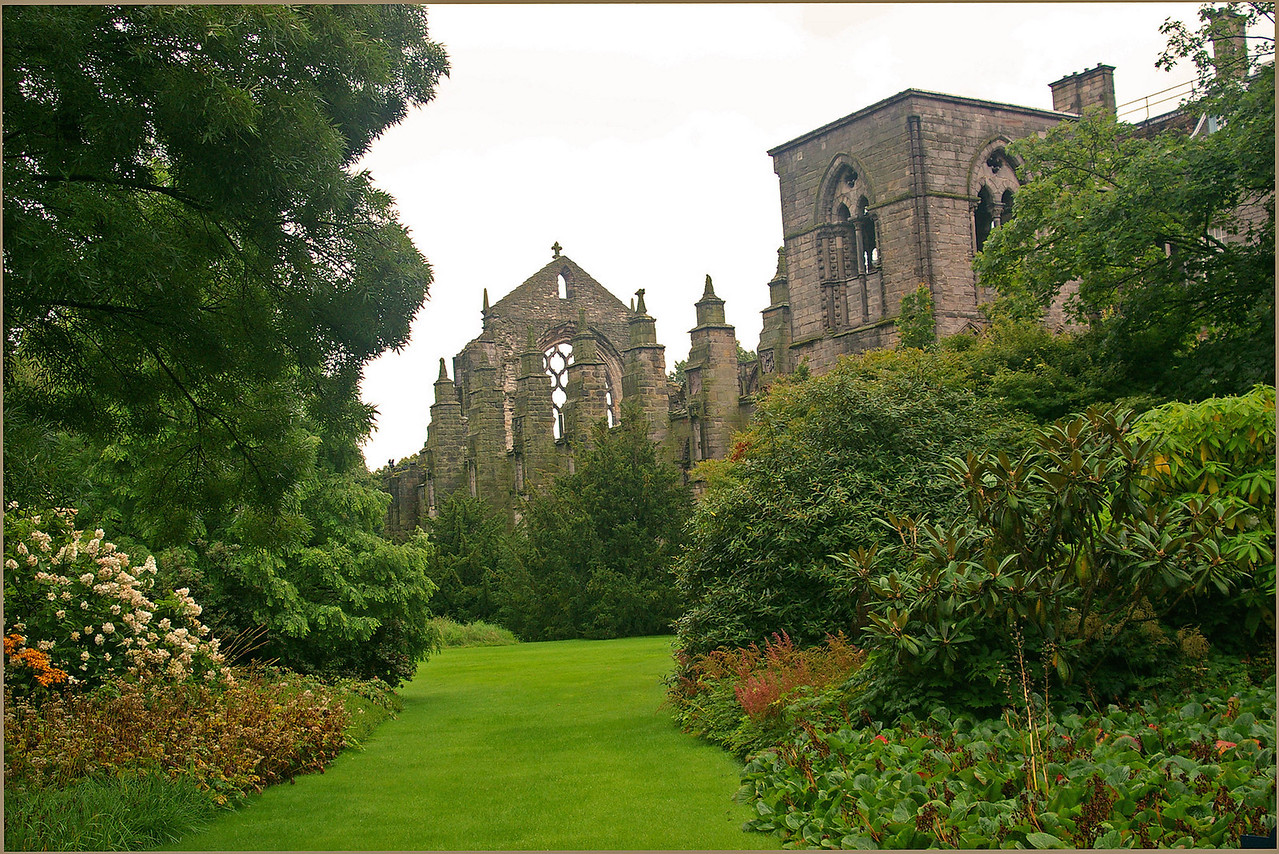 View of Abbey and part of Palace of Holyroodhouse