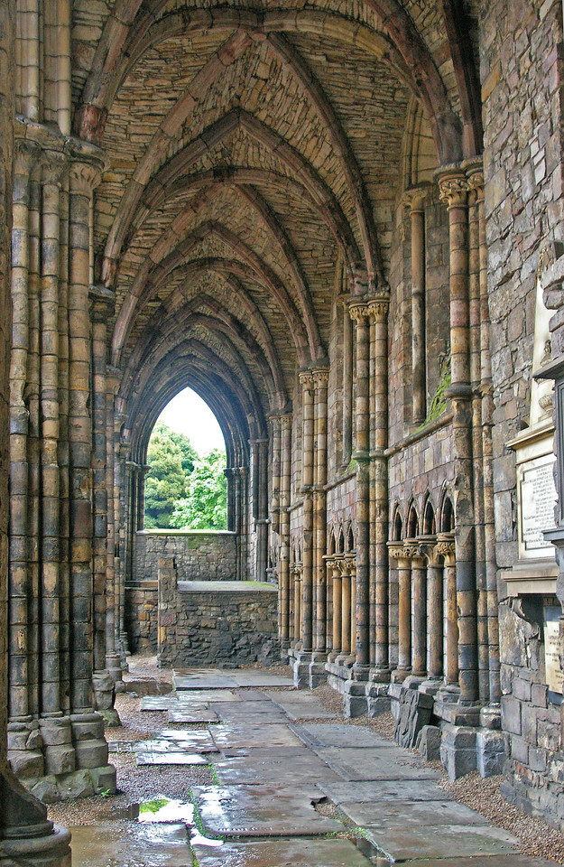 Inside the old Abbey at Palace of Holyroodhouse