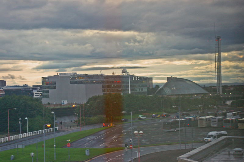 BBC Scotland from Hotel window