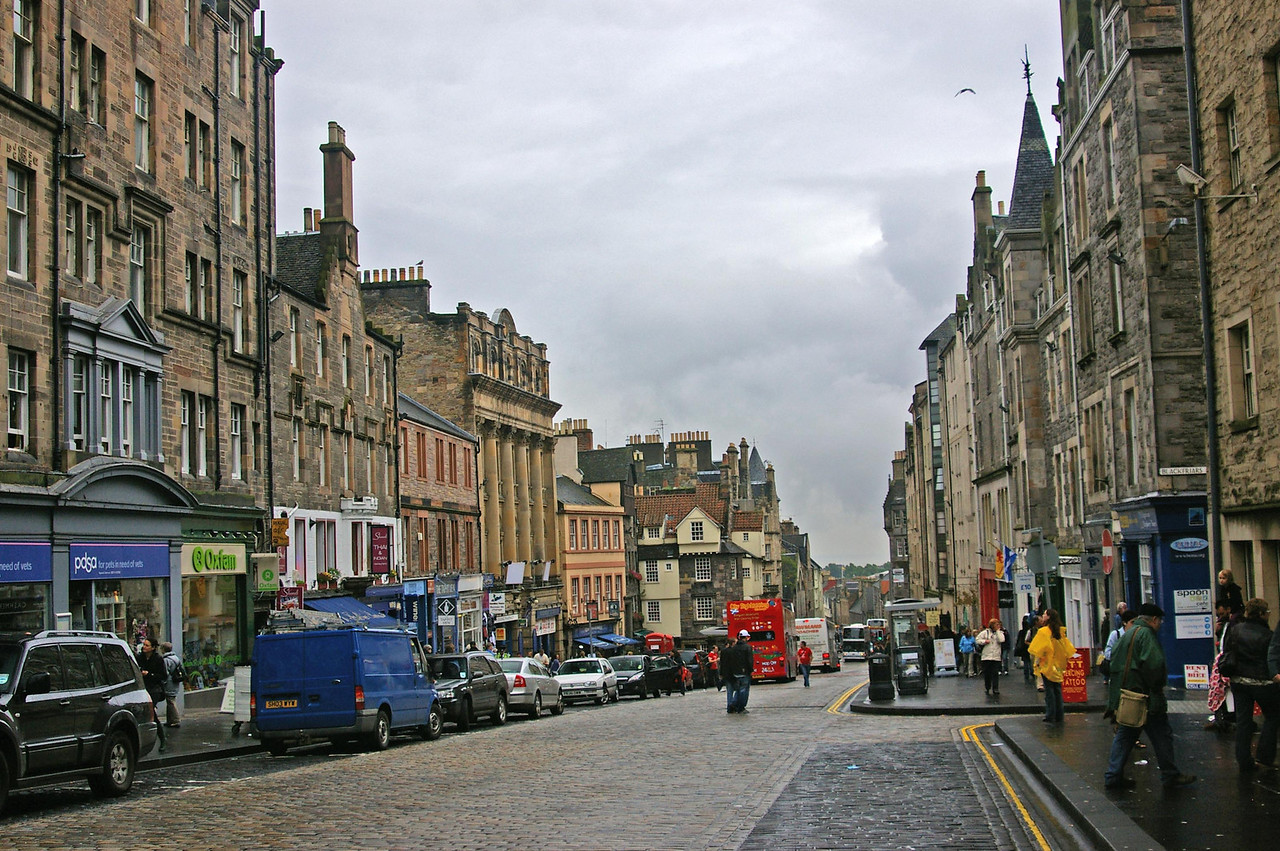 The Royal Mile,  Goes from Edinburgh Castle to the Palace of Holyroodhouse