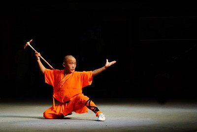 Young Shaolin monk at song shan mountain shaolin temple (near Dengfeng), China