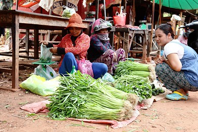 Market place in Cambodian village