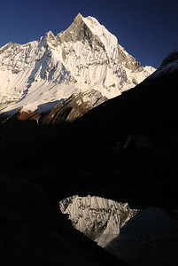 Reflection of Machapuchare.