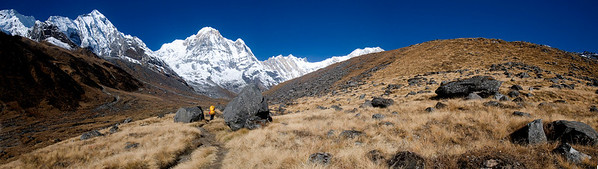 On the way to Annapurana Base Camp.