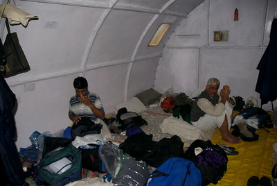 Typical camp provided by the KMVN the government agency that organizes these Yatras.